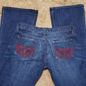 Ted Baker embroidered pocket jean